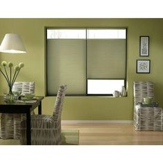 Bay Leaf 67 to 67.5-inches Wide Cordless Top Down Bottom Up Cellular Shades (67W x 50H Bay Leaf), Green (Polyester)
