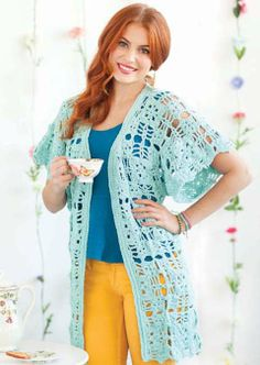 Flower patch, Crochet and Jackets on Pinterest