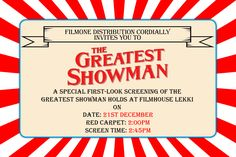 Image result for greatest showman theme party invitations