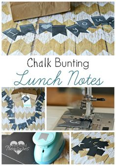 Diy chalk bunting lunch notes are the perfect way to let your child they are loved when away from home! @alicanwrite