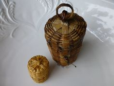 Mini Organic Baskets with Lid and Hanging Loop  by ChicAvantGarde, $10.00