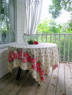 Tablecloth Roses Holly and Ivy Festive Tablecloth Table