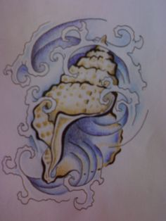 i like the idea of a shell tattoo, always going places but when you listen, you can always hear where they came from