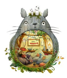 Cute Totoro art