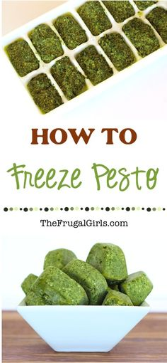 How to Freeze Pesto - Tips from TheFrugalGirls.com