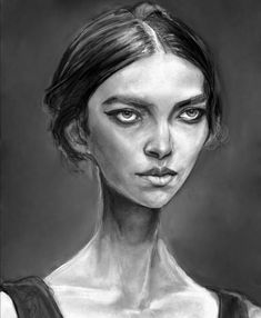 Danny Roberts painting of Arizona Muse from Next Model Management for models dot com Fresh Face top newcomers spring 2011
