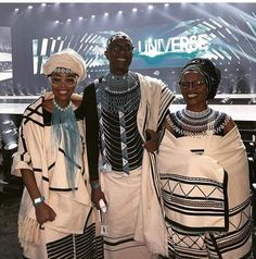 Parents of Miss Universe. Xhosa Attire, African Attire, African Dresses For Women, African Fashion Dresses, Winnie Mandela, Traditional Outfits, Traditional Wedding, Black People, My Wardrobe