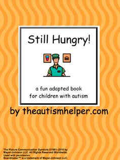 Still Hungry! an adapted book for children with autism {a fun and interactive book to practice the community skills of ordering in a restaurant!} by theautismhelper.com