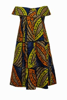 Bot i Lam Kaba dresses made in Cameroon, 50s influence. African wax print dress.