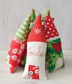 Cute little house ornament tutorial, made from scraps.