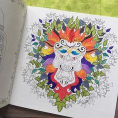 My lion king #animals #art #artwork #artoftheday #book #brightcolors #coloring #create #drawing #enchantedforest #aslan #hayvanlar #hobby #johannabasford #lion #painting #relax #therapy #yaprak #leaf #aslan