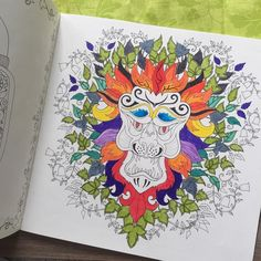 My lion king #animals #art #artwork #artoftheday #book #brightcolors #coloring #create #drawing #enchantedforest #aslan #hayvanlar #hobby #johannabasford #lion #painting #relax #therapy #yaprak #leaf #aslan