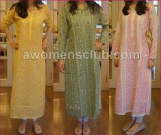 Farida Hasan Lukhnow Kurta Collection 3 most lovely colours Pakistani Dresses, Indian Dresses, Indian Outfits, Kurta Designs, Blouse Designs, Dress Designs, Indian Attire, Indian Wear, Eastern Dresses