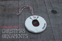Baking Soda Clay Ornaments - Mama. Papa. Bubba. Love this for when she is old enough to start a yearly ornament making tradition :)