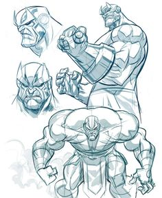 Hi everyone, sorry if I haven't been as active on here, but juggling a full time got and freelancing at night aaaand putting my #sketch book together has me beat! Here a couple rough #sketches I did of #thanos . I saw the new trailer for #avengers #infinitywar and it looks dope! Anyways I'll try to be more active on here :) #infinitygauntlet #marvel #marvelcomics #infinitystones