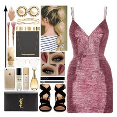 """""""//🌷//"""" by kokoxx on Polyvore featuring Alex Perry, Gianvito Rossi, Yves Saint Laurent, Gucci, NARS Cosmetics, Chanel, Nadri, ASOS, Linda Farrow and Christian Dior"""