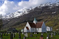 """""""Snowy Slopes"""" (village of Olden, Norway) ~ photo by magirob, via Flickr"""