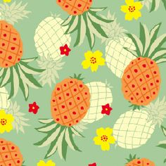 Tropical - Pinneapple pattern for tablecloths and things Pineapple Art, Pineapple Pattern, Pineapple Wallpaper, Pineapple Fabric, Pineapple Express, Pattern Vegetal, Cute Pattern, Pattern Design, Textile Patterns