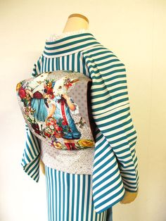 Rabbit Obi for this Easter Kabuki Costume, Kimono Fashion, Fashion Outfits, Modern Kimono, Kimono Pattern, Kimono Fabric, Japanese Outfits, Yukata, Japanese Kimono