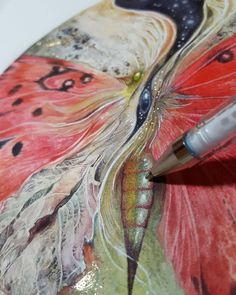 Finishing touches. #inprogress #watercolor #painting #butterfly