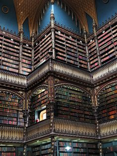 If this three-story library doesn't take your breath away, then we're not sure anything will. The Royal Portuguese Reading Room houses more than 350,000 books in floor-to-ceiling bookcases, all under a domed skylight of stained glass.