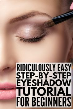 eyeshadow shapes how to apply ; eyeshadow shapes for hooded eyes ; eyeshadow shape for almond eyes ; Eyeshadow Tutorial For Beginners, Eye Tutorial, Makeup For Beginners, Eyeshadow Tutorial Natural, Eye Shadow For Beginners, Hooded Eye Makeup Tutorial, Natural Eyeshadow Looks, Makeup Tutorial Step By Step, Brown Smokey Eye Makeup Tutorial