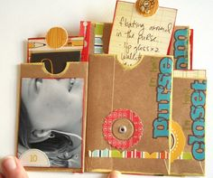 Kraft mini-envelope album