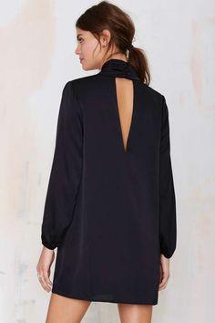 Beautiful Black Satin Dress