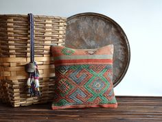 Vintage Tribal Ethnic Kilim Pillow Cover  Handwoven by pillowme, $39.00