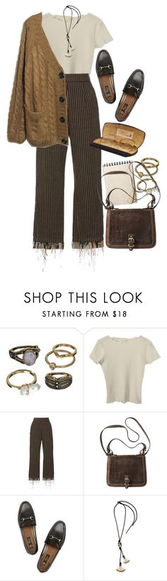 """Untitled #11527"" by nikka-phillips ❤ liked on Polyvore featuring Mudd, Isa Arfen, Gucci and Lanvin"