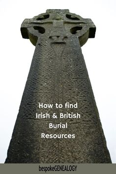 How to find Irish and British Burial Resources. Websites with burial records that can help you with your Irish and British genealogy research. #bespokegenealogy #ireland #uk Genealogy Research, Family Genealogy, Finding Your Roots, Find Your Ancestors, Genealogy Organization, Ireland Uk, Family Research, Family Organizer, Family History
