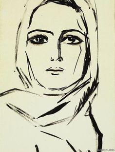 // portrait by kees van dongen.