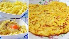 Az egyszerű és újszerű tócsni 5 per alatt pompás reggelire vagy ízletes, gyors vacsorára. Mennyi időbe telik megpucolni és lereszelni egy krumplit? Körülbelül egy-egy perc alatt kész is, hozzáadjuk a tojást, sózzuk, borsozzuk, és már lehet is sütni a serpenyőben. Amennyiben vékonyra lapítjuk, gyorsan meg is sül. Tejföllel, tartármártással vagy akár ketchuppal is tálalható, mindenki ízlésének megfelelően. Potato Pancakes, Ketchup, Mashed Potatoes, Macaroni And Cheese, Cabbage, Chicken, Vegetables, Cooking, Ethnic Recipes