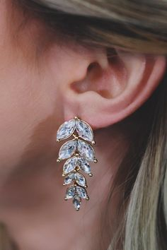 Irredescent Rhinestone Statement Earrings