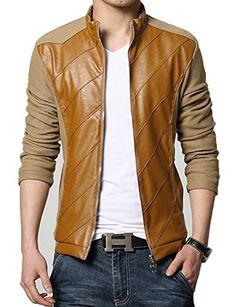 KIWEN® Men's PU Leather Collar Jacket Casual Wear