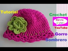 "Crochet Gorro Sombrero ""Aída"" Niños (Parte 1) EspañoI y English por Maricita Colours - YouTube"