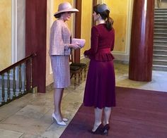 Crown Princess Mary of Denmark and Queen Mathilde of Belgium attended a meeting with the Mary Foundation at Frederik VIII's Palace in Amalienborg.