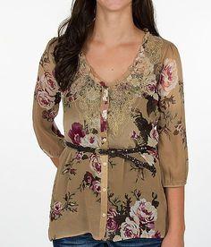 Daytrip Button Front Peasant Shirt gorgeous!!