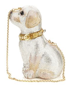 Judith Leiber 'Puppy' Crystal Clutch Premium designer outlet online boutique at luxlu.com