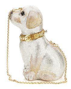 Judith Leiber 'Puppy' Crystal Clutch