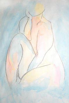 Figure Study Print By Deborah Lee