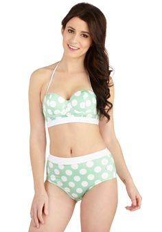 Seasons of the Sun Swimsuit Top in Mint, #ModCloth