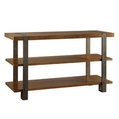 TRIBECCA HOME Lawson Brass and Reclaimed Wood Sofa Table | Overstock.com