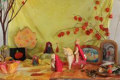 Oh how we adore Martinmas! Autumn Crafts, Nature Crafts, Waldorf Kindergarten, Waldorf Crafts, Auction Projects, Nature Table, Autumn Nature, Autumn Activities, Diy Table