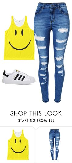 """Untitled #221"" by jazzy0124 on Polyvore featuring WithChic and adidas"