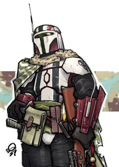 "qsy-draws-a-lot: ""commissioned by @hehasmonkeytoes, his Mandalorian armor May the Fourth be with you ya nerds .w. """