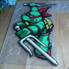 TMNT Raphael hama perler beads by aleeeeex87 - Pattern: http://www.pinterest.com/pin/374291419004463739/