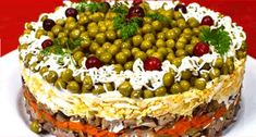 Слоеный салат с языком «Купеческий» http://jemchyjinka.ru/2017/12/24/sloenyj-salat-s-yazykom-kupecheskij/