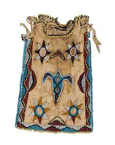 Apache Beaded Hide Bag - Cowans Auctions