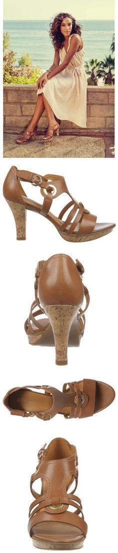 the perfect summer sandal has straps, gold details AND a cork platform heel <3